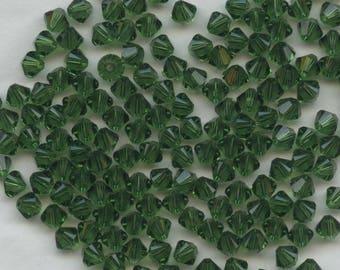 T4 5328 FG *** 30 bicone beads crystal Swarovski 4mm FERN GREEN