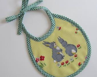 First Size Vintage Bunny Rabbit Babies Bib