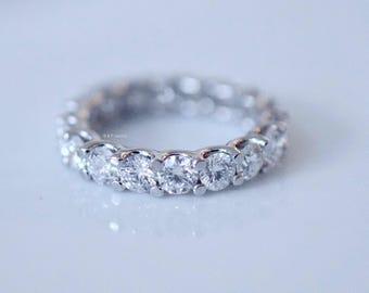 3.80 Carat Round Diamond Eternity Band