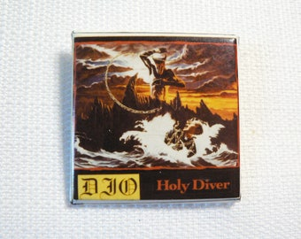 Vintage Early 80s Ronnie James Dio - Holy Diver Album (1983) - Pin / Button / Badge