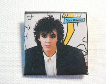 Vintage 80s Goth Nick Rhodes  - Duran Duran Pin / Button / Badge