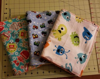 Set of 3 Burp Clothes
