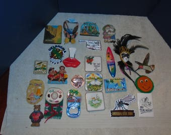 Refrigerator magnets. magnets. souvenir magnets. vacation. road trip. Travel