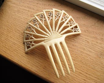 Vintage 1920's Celluloid French-Ivory Hair Comb