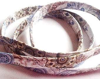 Blue and Brown Paisley Dog Leash
