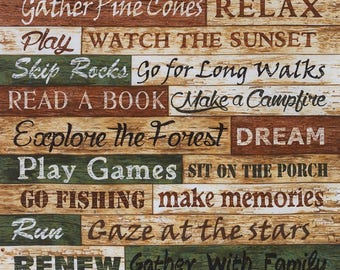 Cabin Rules Panel by Timeless Treasures