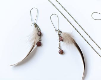 Boho hook earrings /bronze / nickelfree
