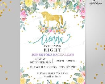 Unicorn Invitation