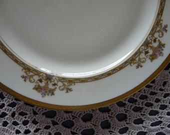EPIAG Springer & Co. Czechoslovakia - BELGENLAND #6643- Set 6 Coupe Soup Bowls OR Set 4 Dinner Plates - Encrusted Gold Trim