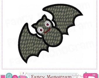 Bat applique,Bat embroidery,Bat design,Halloween applique,Halloween design,Halloween Bat,Machine Embroidery. - 01