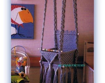 Macrame Baby Swing Pattern Hanging Baby Seat Macrame Home Decor Digital Pattern Instant Download
