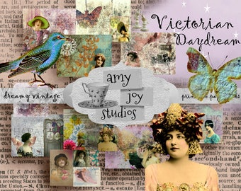 Victorian Daydream  Junk Journal Kit   Digital Journal Kits    Printable Journal Pages  Vintage Journal  Ephemera Pack  Printables Art