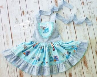 Girls Cinderella dress Girls princess dress girls blue dress girls twirly dress girls character dress girls brithday dress toddler dress