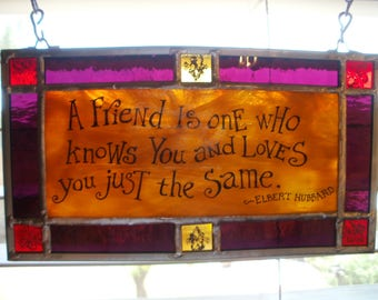 Stained Glass Quote Elbert Hubbard