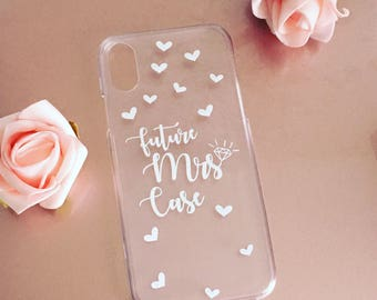 Personalised future Mrs iPhone case, bride to be phone case, engagement gift, bridal gift, hen party gift