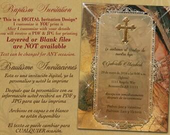 Baptism Invitations, invitaciones de bautizo, christening, christening invitaitons