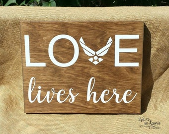 Military Retirement, Gift for Military, Love Lives Here, Military Family Love, Military Gift, Father Gift, Soldier Gift, Gift for Son