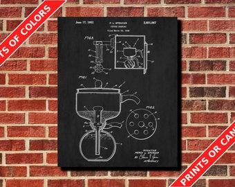 Coffee Brewing Patent Print Kitchen Wall Art Cafe Poster Coffee Print Coffee Brewing Blueprint Blueprint