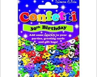 30th Birthday foil table confetti, birthday, party supplies, 30th decorations, table decorations, party decorations, UK seller, age confetti