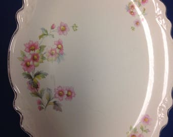 Virginia Rose Platter by Homer Laughin