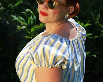 Vintage Inspired 1940s Peasant Top
