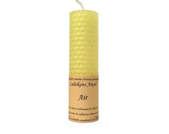 """Air Candle - 4 1/4"""" Yellow Beeswax Candle"""