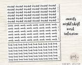 Work Word Stickers - Planner Stickers - WO02