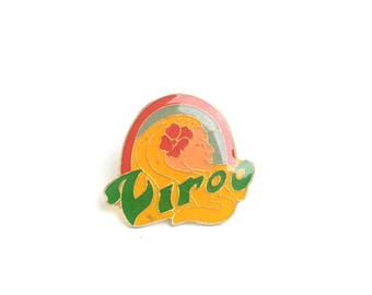 Virgo, enamel pin, lapel pin, backpack pin, horoscope, pin badge, zodiac, hat pin, astrology, constellation, zodiac jewelry, birthday gift