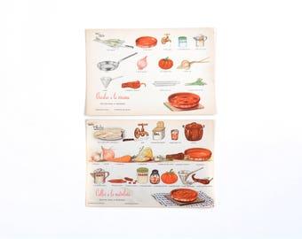 Diy Recipe, recipe cards, vintage recipe print, rustic food decor, food poster retro
