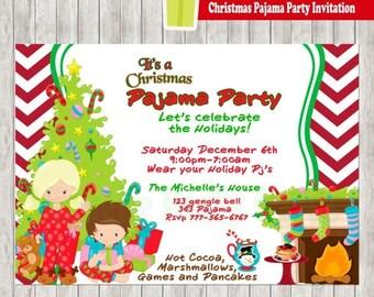 50% Off Christmas Pajama Party Invitation