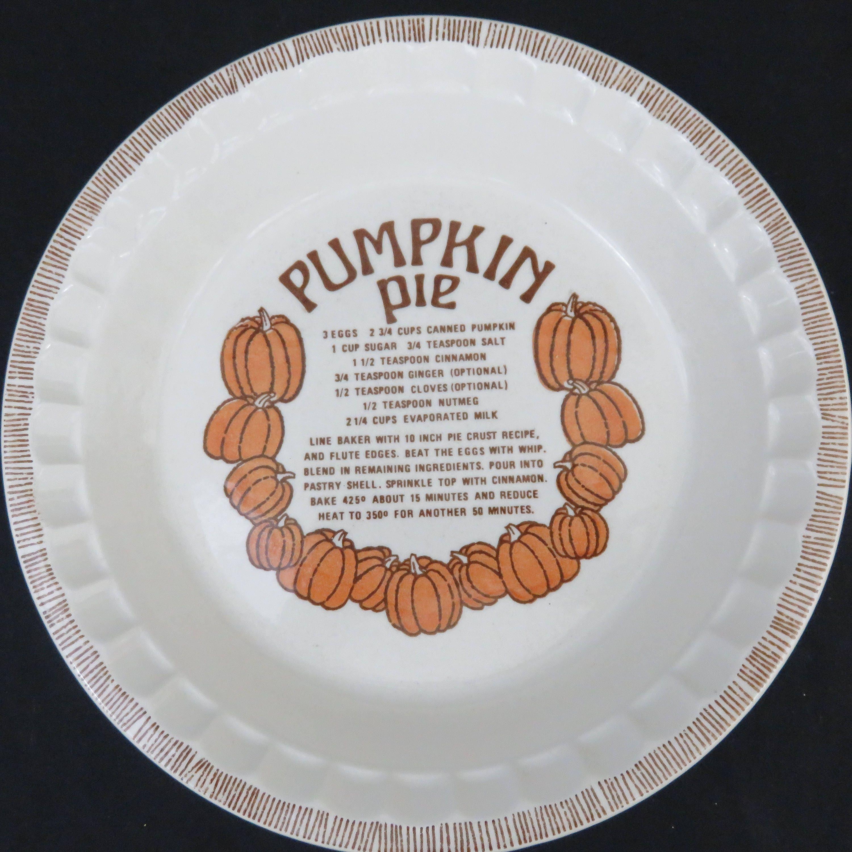 11\  Pumpkin Pie Recipe Deep Dish Pie Plate - Jeannette Royal China Pie Pan - & 11 Pumpkin Pie Recipe Deep Dish Pie Plate - Jeannette Royal China ...