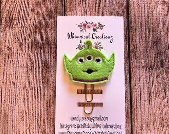 Green Alien Planner Clip