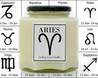 Aries Candle, Star Sign Candle, Star Sign Gift, Horoscope Candle, Zodiac Candle, Candle For Aries, Gift For Aries, Candle, Gift For Friend