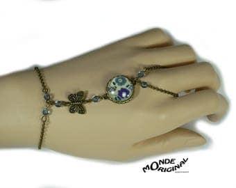 Bracelet liberty Fairford blue cabochon