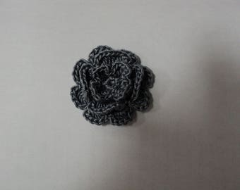 10 grey flowers to CROCHET for EMBELISSEMENT ref: z37
