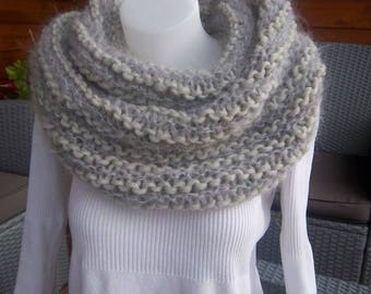 Choker made of wool and mohair (gray)