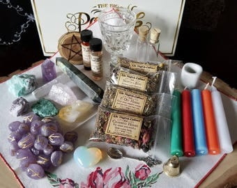 Witchcraft Kit, Wicca Altar Kit, Altar Kit, Witch Box, Traveling Altar, Witch, Pagan, Wicca, Apothecary, Ritual Kit, Wicca Kit, Witchcraft
