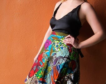 REVERSIBLE PATCH SKIRT