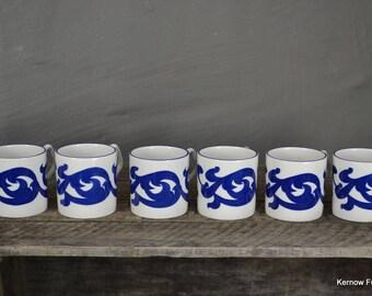 6 Royal Cauldon Coffee Cups