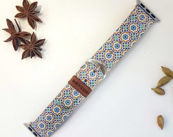 Moorish Leather Apple Watch Band 38mm, 42mm //  Handmade Apple Watch Strap iWatch Band iWatch Strap Wearable Tech Christmas Gift For Her