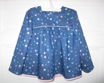 girls soft denim blouse