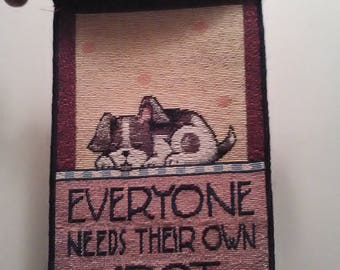 Mary Engelbreit Tapestry Everyone Needs Their Own Spot Wall Hanging/Bell Pull