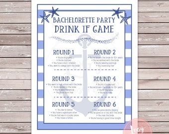 Bachelorette Party Drink If Printable Game