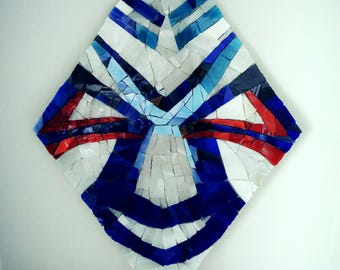 Stained glass mosaic wall mask
