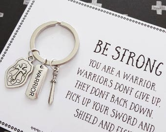 Strength / illness gift you are a Warrior - family, friend, support