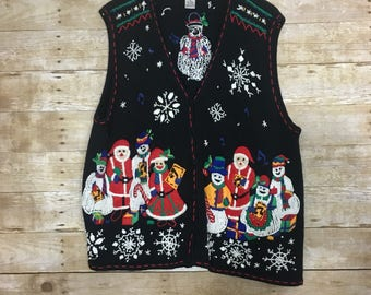 Ugly Christmas sweater vest 2x
