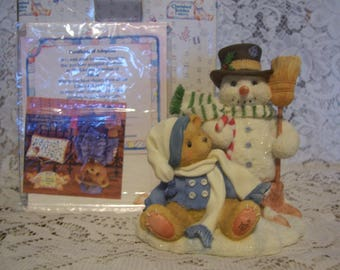 Cherished Teddies MITCH Figurine with Box and Certificate