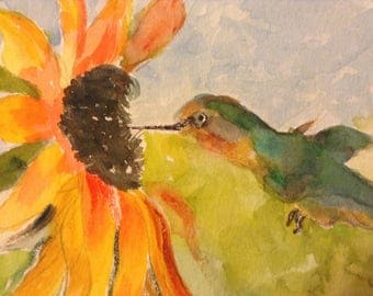 Hummer and Sunflower