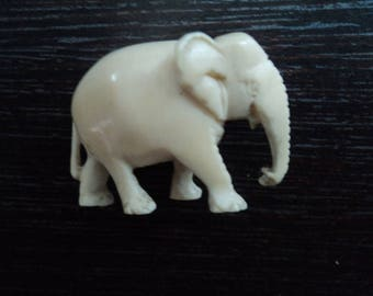 Antique Bovine bone elephan figure