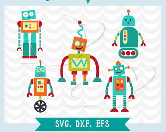 Robot svg, robot dxf, robot eps, robot stencil, robot vector, kid robot svg, clip art robot